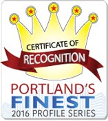 Certificate of Recognition | Portland's Finest 2016 Profile Series
